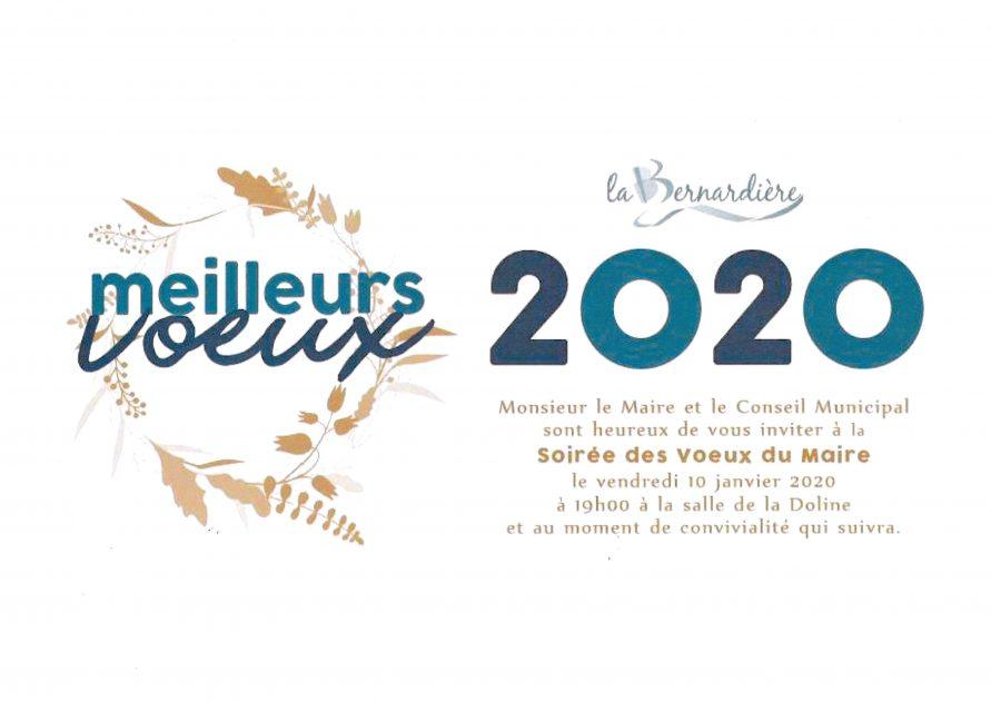 voeux 2020 La Bernardière