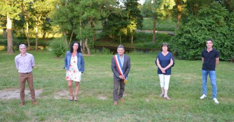 Image : Claude Durand, Maire de La Bernardière réélu en 2020, et ses adjoints.