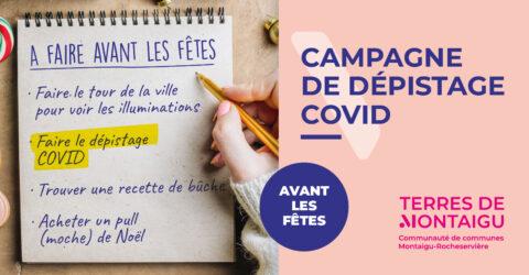 Image campagne de dépistage Covid-19 Décembre 2020 Terres de Montaigu