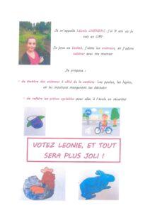 Affiche CME Léonie CHENEAU